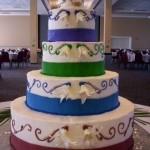 Striped Fondant Wedding