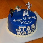 Blue Star Wars Cake