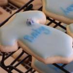 Baby Blue Onesie Cookies